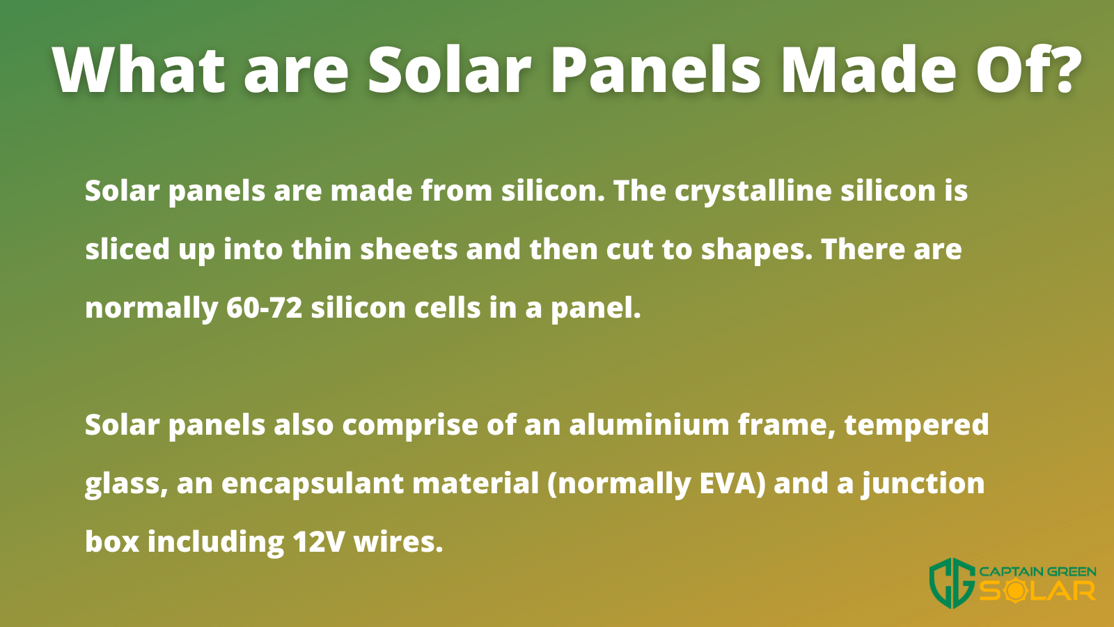 what solar panels are made from