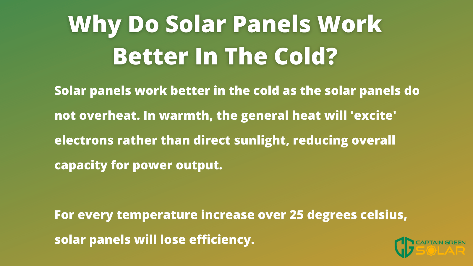 solar panels in the cold