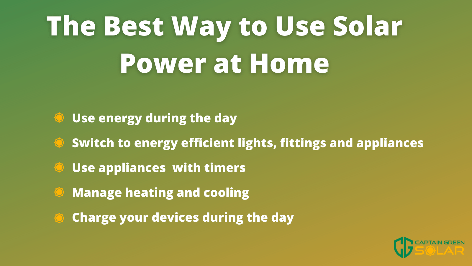 the best way to use solar panels