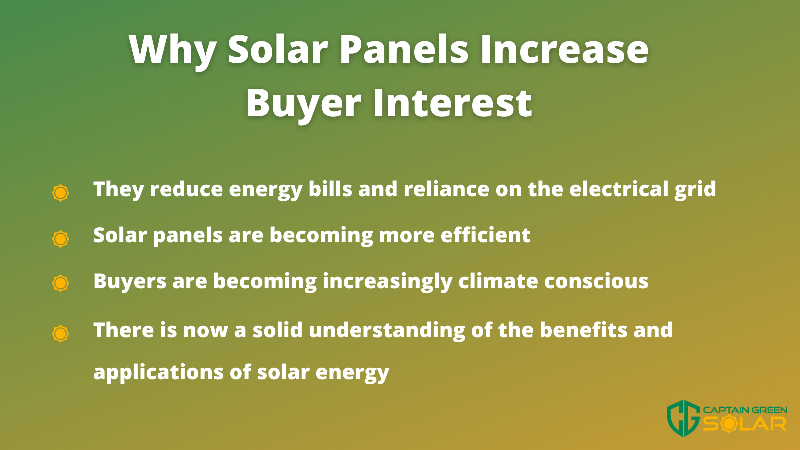 why solar panels increase buyer interest