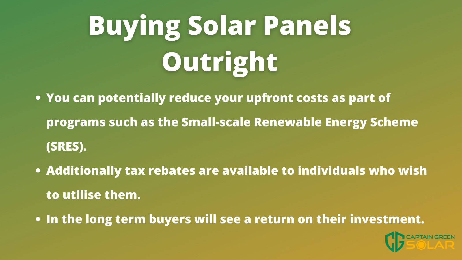 buying solar panels outright