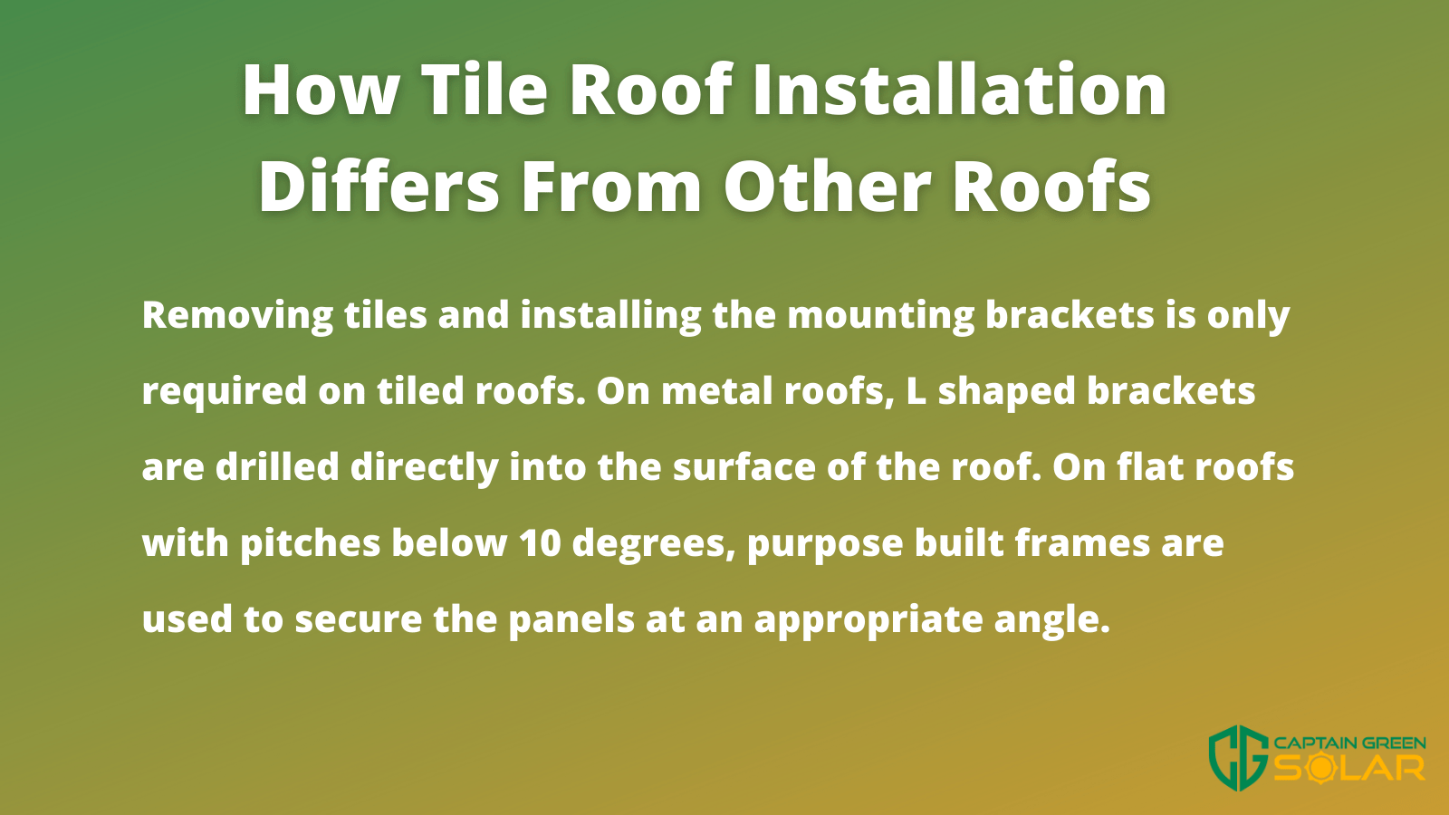 tile roofs and solar compared to other materials